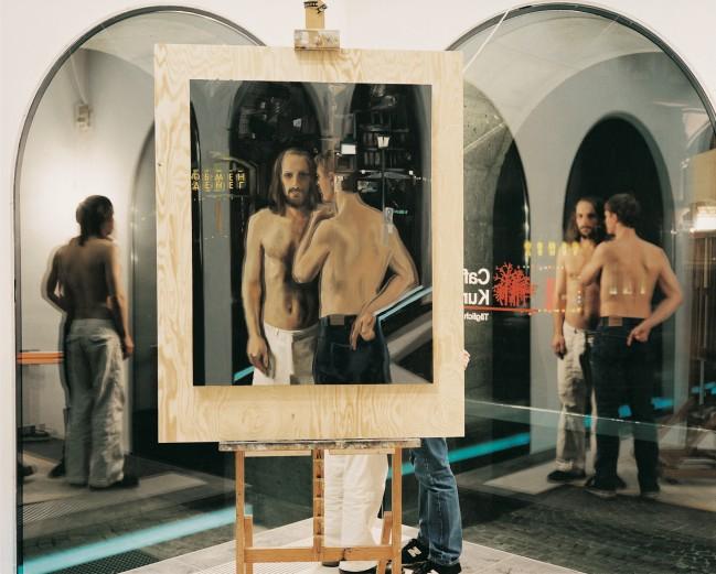 Frankfurter Judaskuss, 2003, Caroline von Grone, Arbeitsfoto (Foto: C. v. Grone)