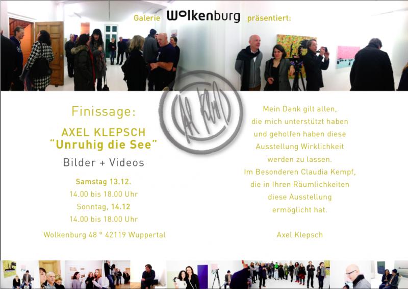 Einladung Axel Klepsch / Galerie Wolkenburg, Wuppertal 2014