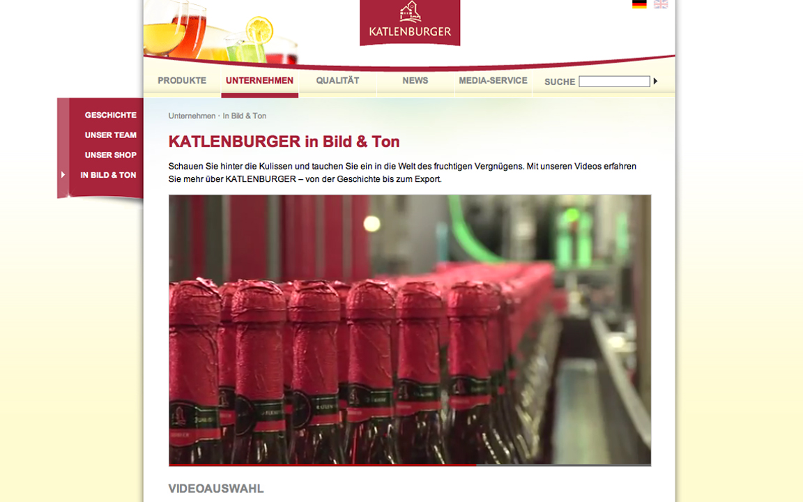 Imagefilm, Webfilm, Katlenburger / Studiengang Medieninformatik / Prof. M. Kreyßig et al.